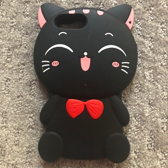 promo code c8d2d 69b0f New Black Cat iPhone 8 Plus Phone Case